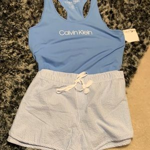 Cabin Klein racerback and shorts pajama set, NEW